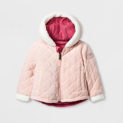 Stevies Baby Girls' Quilted Jacket - Rose 18 Months