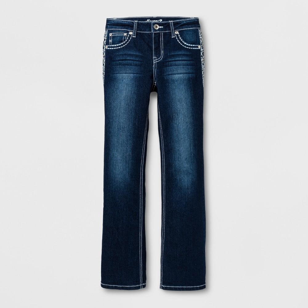 Girls Seven7 Skinny Jeans - Dark Blue 7