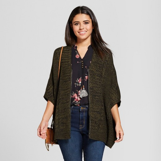 Women's Zip-Up Oversize Cardigan - Xhilaration™ (Juniors') : Target
