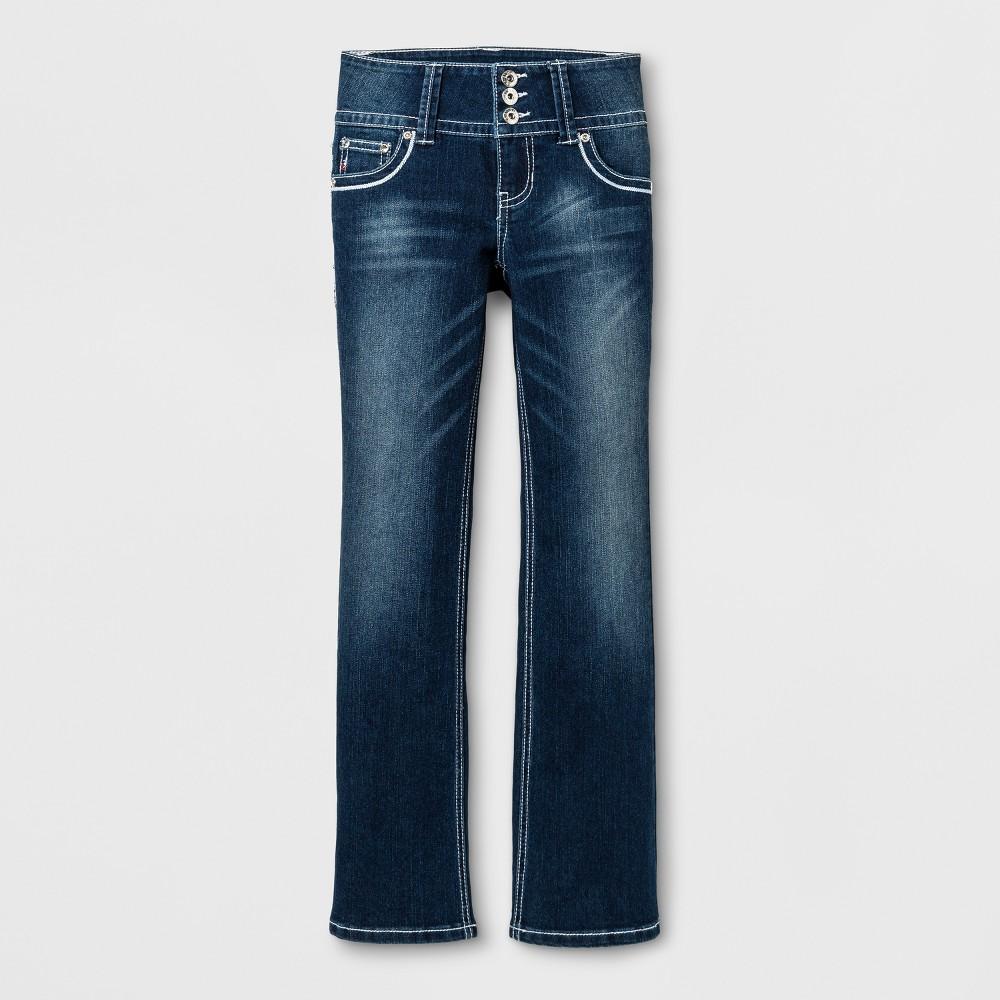 Girls Seven7 Bootcut Jeans - Medium Blue 14