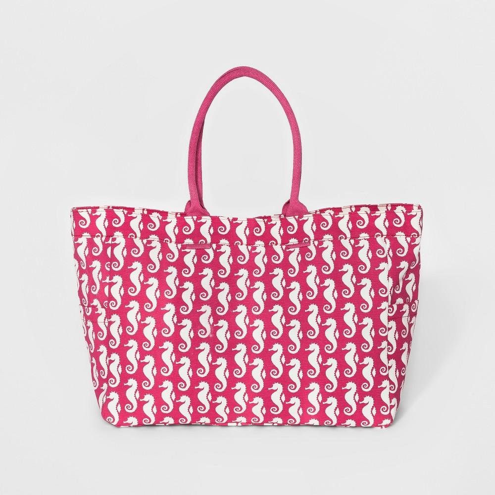 rockflowerpaper Womens Carryall Handbag - Seahorse Pink