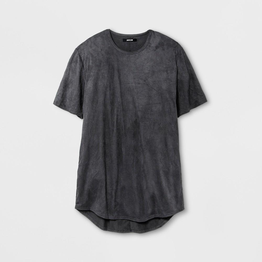 Men's Suede Curved Hem T-Shirt - Jackson Gray XL