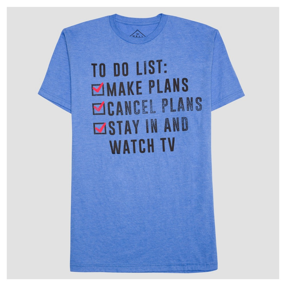 Mens My To-Do List Graphic T-Shirt - Well Worn Blue Heather Xxl