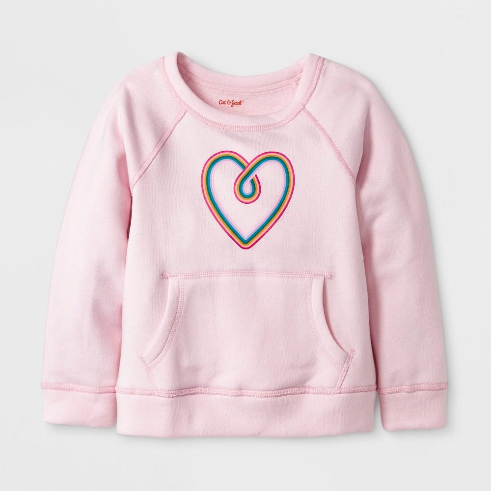 Toddler Girls Adaptive Sweatshirt - Cat & Jack Pink 5T