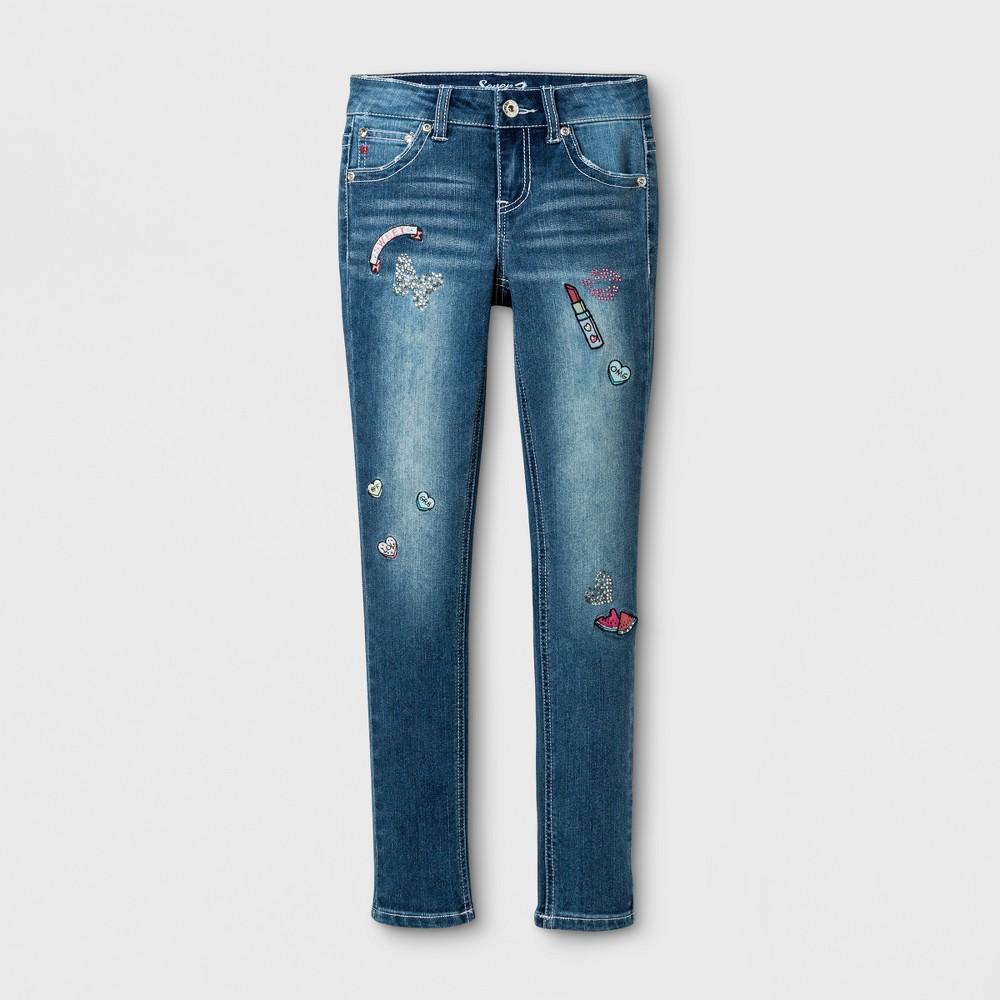 Plus Size Girls Seven7 Skinny Jeans - Blue 10 Plus