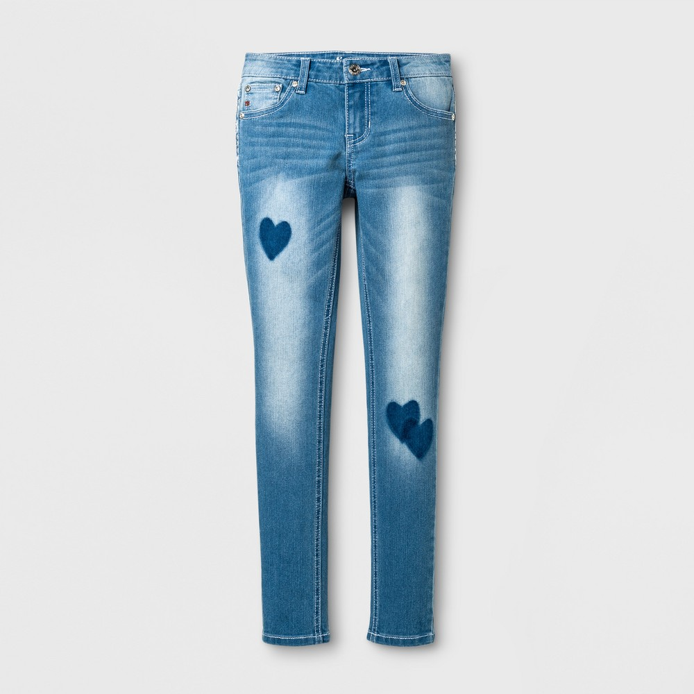 Girls Seven7 Skinny Jeans - Medium Blue 7
