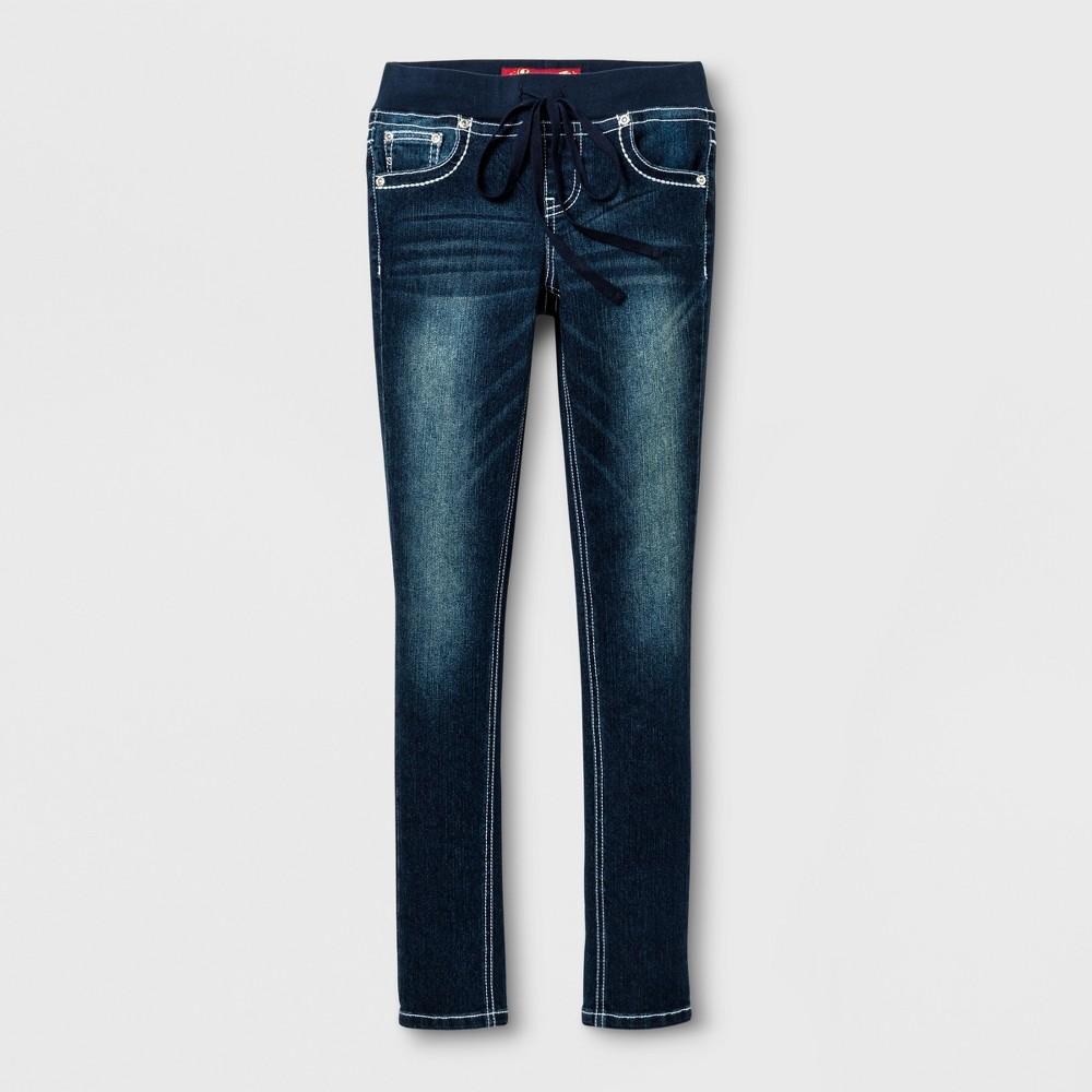 Girls Seven7 Skinny Jeans - Indie Blue 8