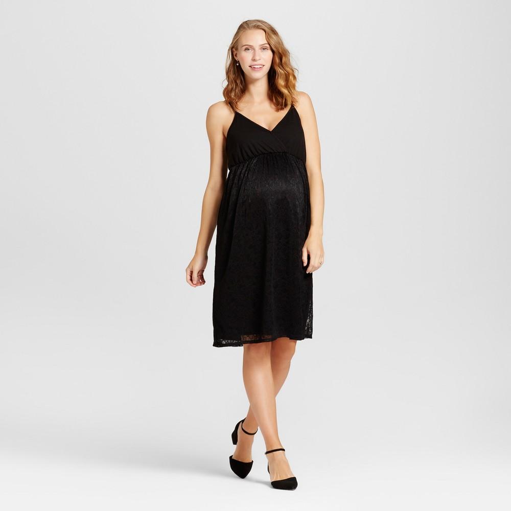 Maternity Lace Dress - Fynn & Rose Black M, Womens