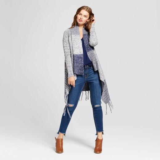 Women's Patchwork Waterfall Cardigan - Knox Rose™ Blue : Target