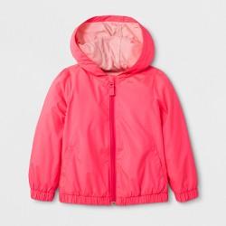 Toddler Girls' Packable Windbreaker Jacket - Cat & Jack™ Luminous Coral