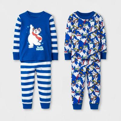 Frosty the Snowman Baby Boys' 4pc Cotton Pajama Set - Blue 12M