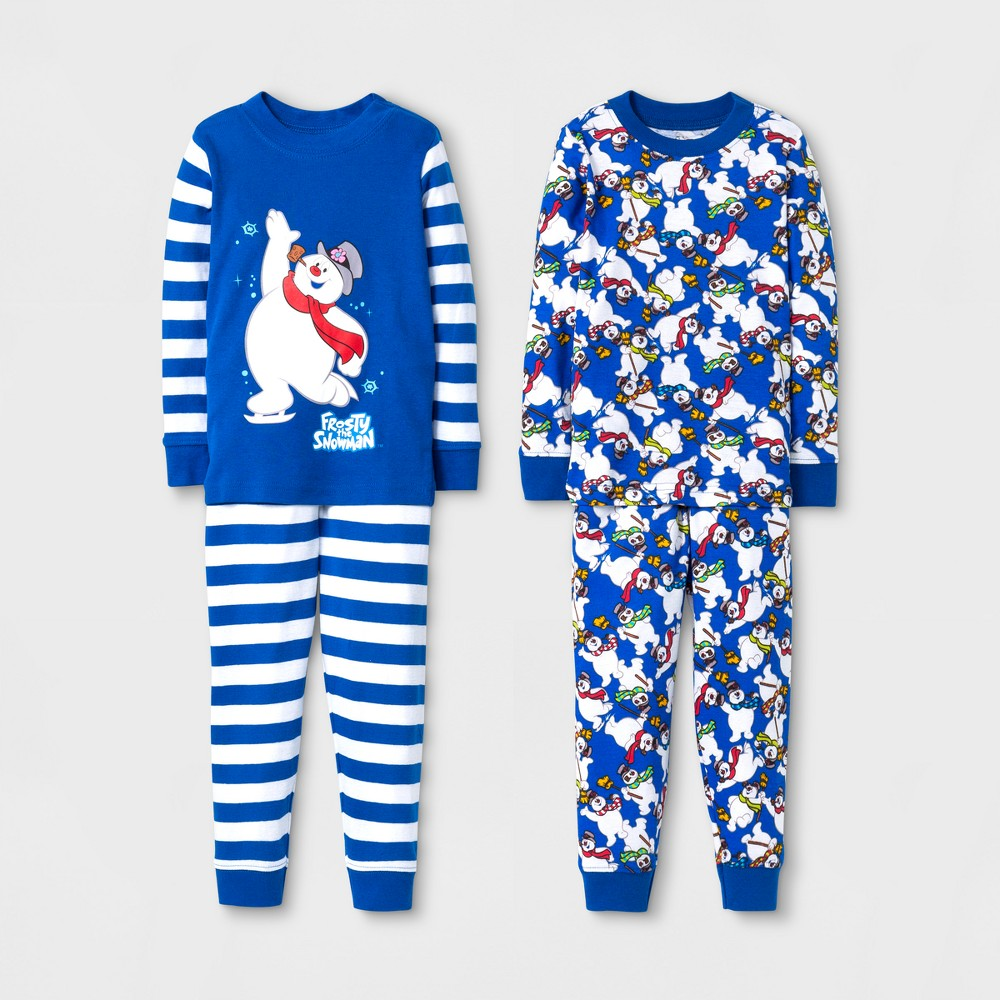 Toddlers Frosty the Snowman Pajama Set - Blue 4T, Toddler Boys, Multicolored