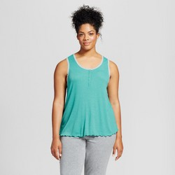 Women's Plus Size Sleep Tank Top - Xhilaration™ - Turquoise Gem