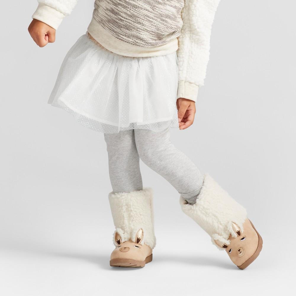 Toddler Girls Skirted Leggings - Cat & Jack Cream 4T, White