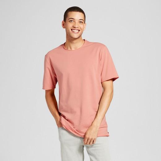 Men's Short Sleeve Oversized Raw Edge T-Shirt - Jackson™ Burnt ...