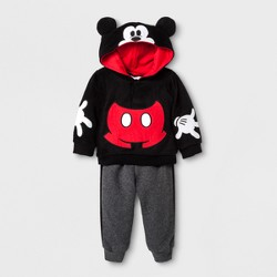 Baby Boys' Disney Mickey Mouse  Hoodie & Pants Set - Black