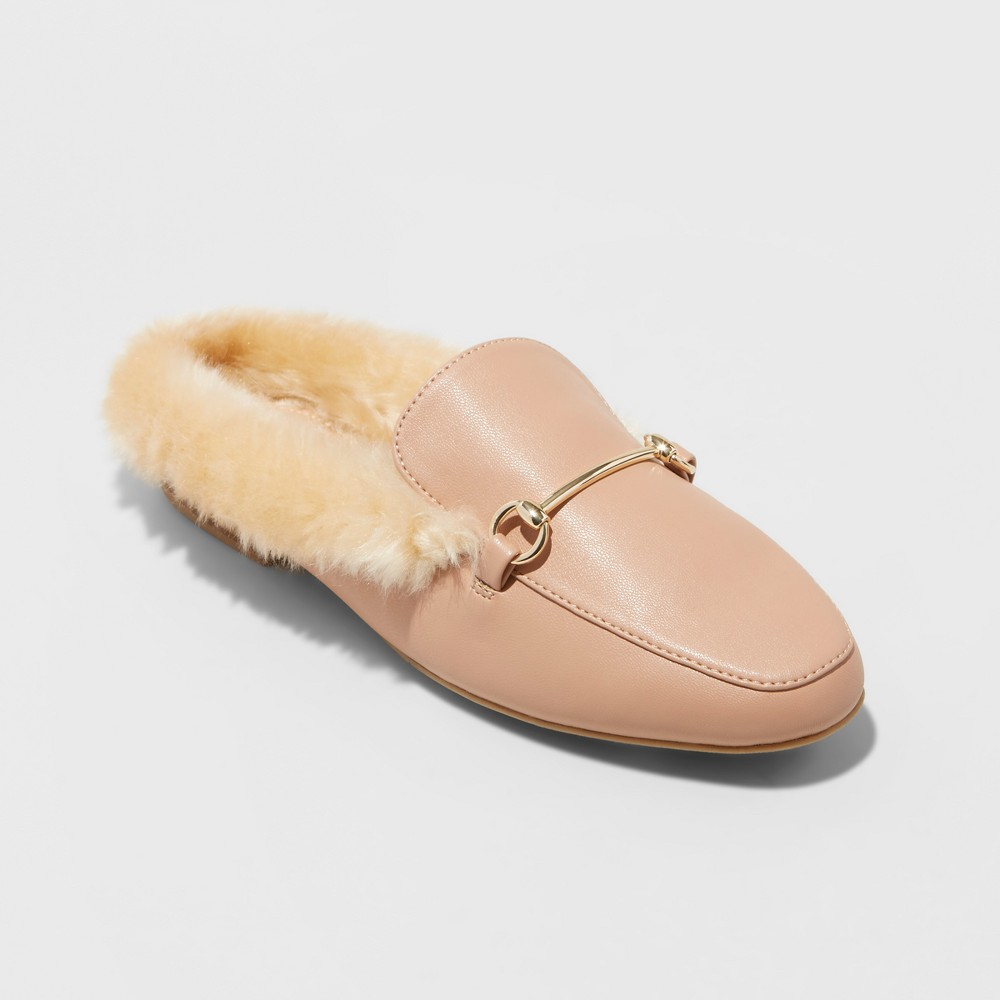 Womens Rebe Backless Loafer Mules - A New Day Pink 8