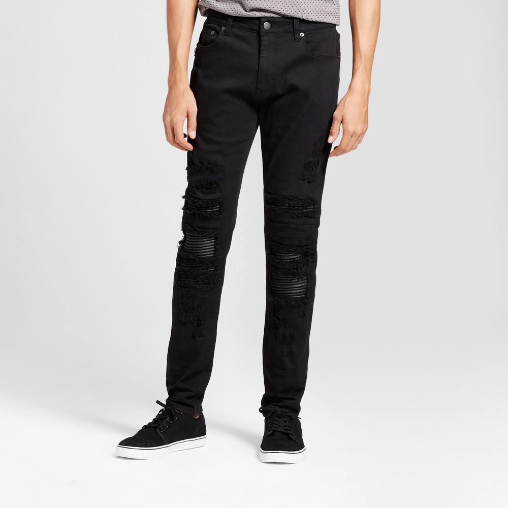 Mens Straight Fit Fashion Pants - Jackson Black 36