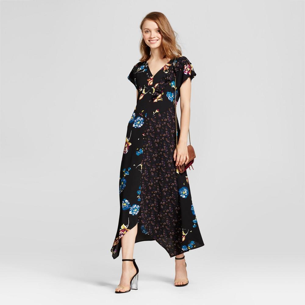Womens Mixed-Print Maxi Dress - Xhilaration (Juniors) Black Xxl