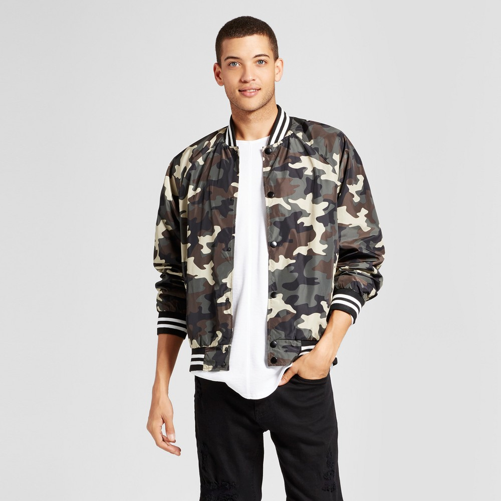 Mens Bomber Jacket - Jackson Camouflage Green L