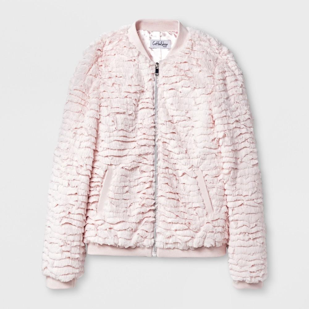 Girls CoffeeShop Kids Clipped Faux Fur Jacket - Pink Petal M (7-8)