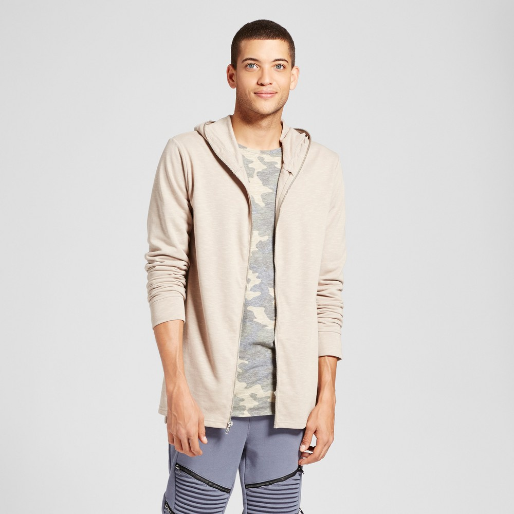 Men's Extended Full Zip Hooded Sweatshirt - Jackson Sand XL, White