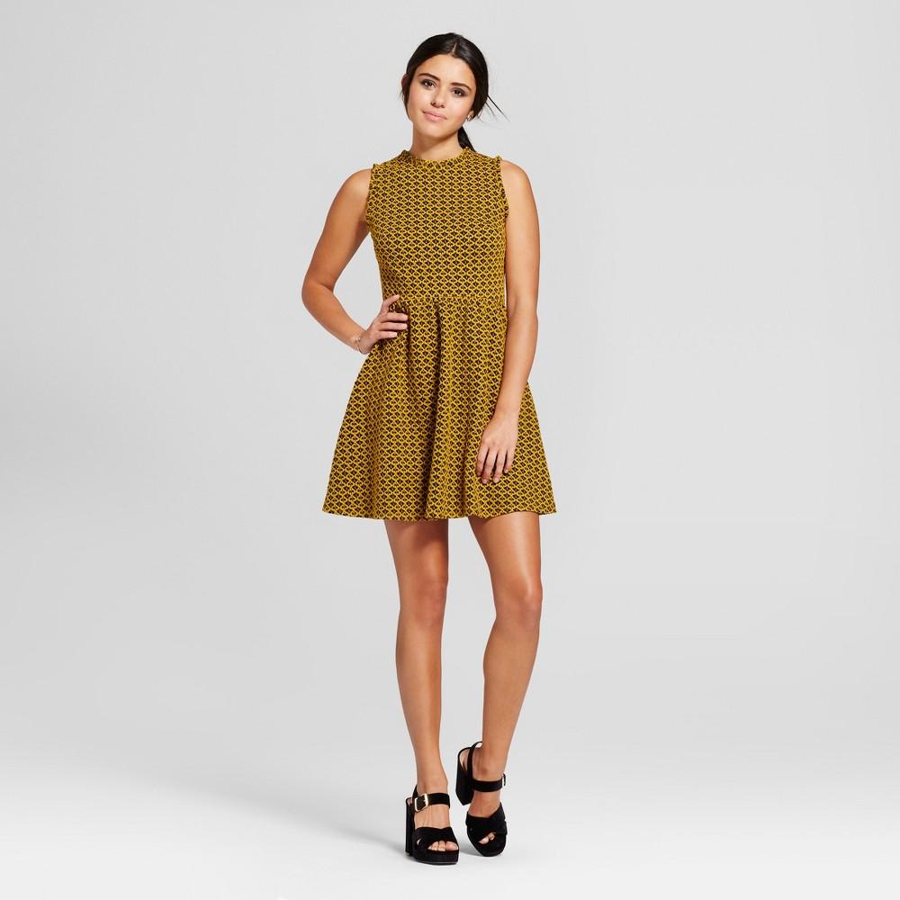 Womens Knit Jacquard Fit & Flare Dress - Xhilaration (Juniors) Citrus S
