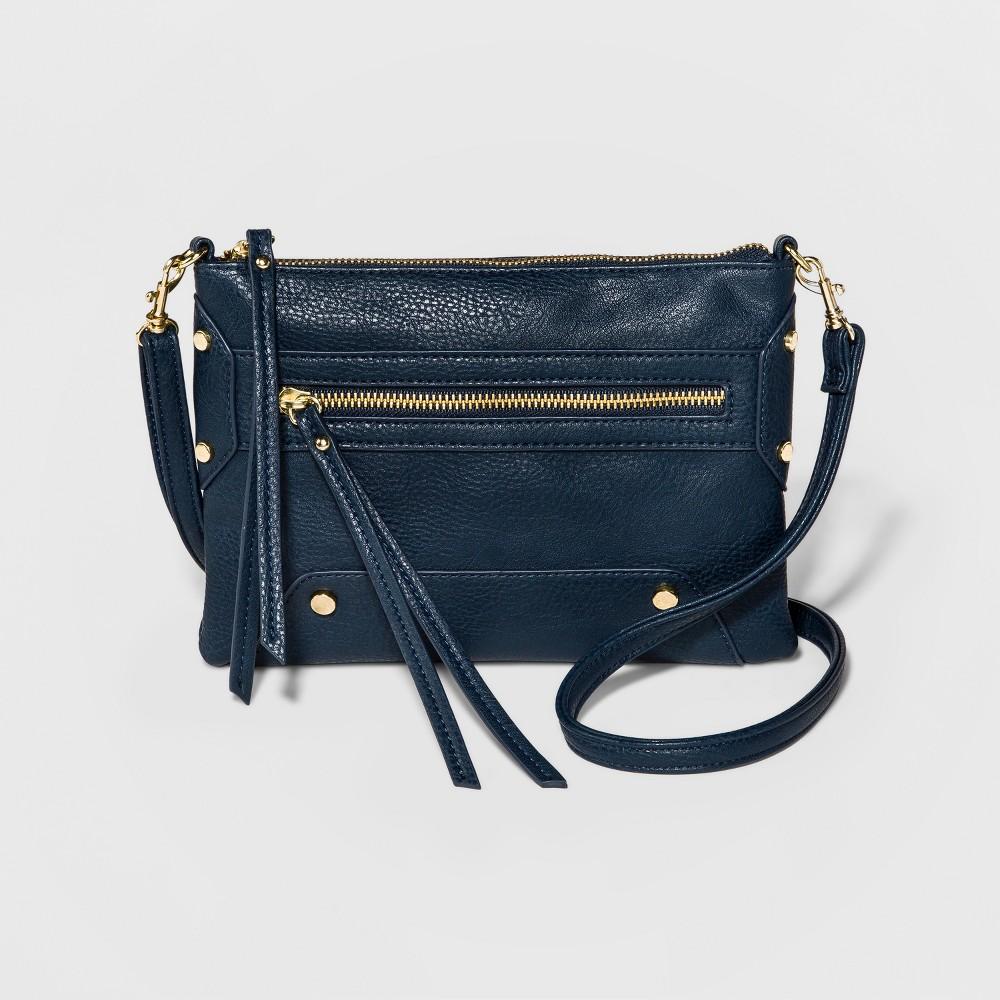 Womens Crossbody Handbag - A New Day Denim (Blue), Size: Small