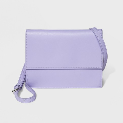 Square Flap Crossbody Handbag - Mossimo Supply Co.™ Lilac - image 1 of 3