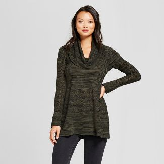 womens olive green sweater : Target