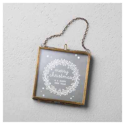 Pressed Glass Photo Frame Ornament (3 )- Hearth & Hand™ with Magnolia