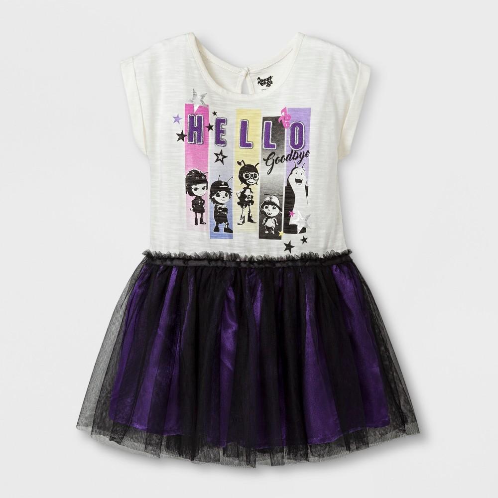 Toddler Girls Beat Bugs Tutu Dress - White 4T