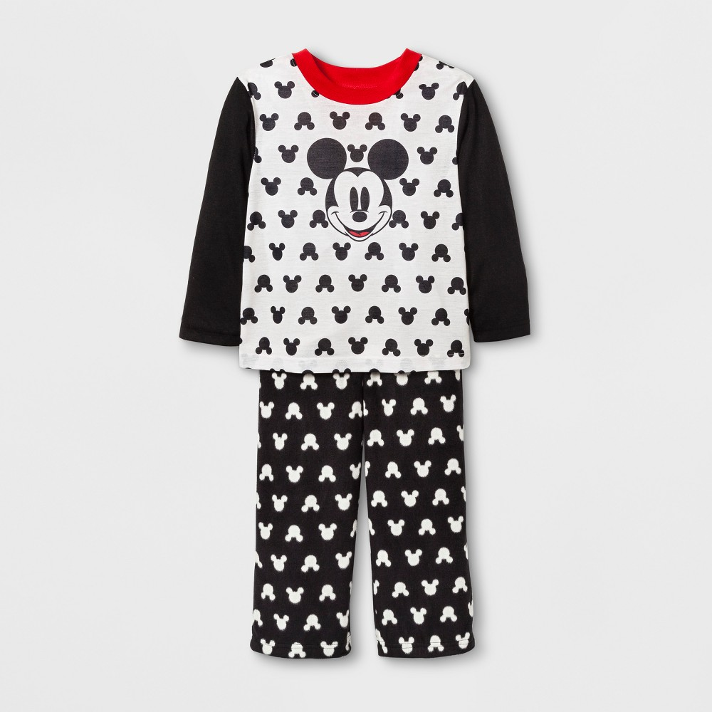 Pajama Set Mickey Mouse&Friends Black 2T, Toddler Unisex
