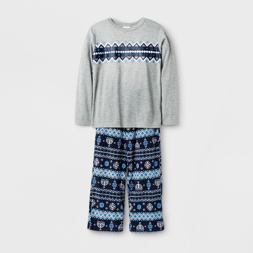 Kids Hanukkah Pajama Set - Wonder Shop Gray 8, Kids Unisex