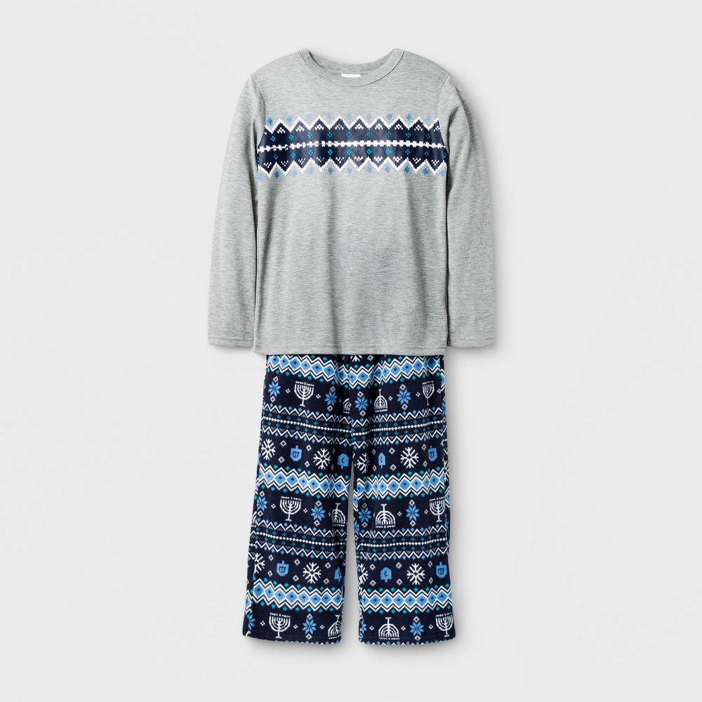 Kids Hanukkah Pajama Set - Wonder Shop Gray 6, Kids Unisex