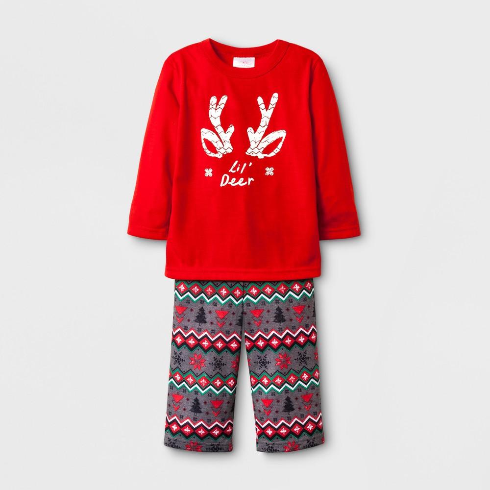 Toddler Fair Isle Lil Dear Pajama - Wondershop Red 12 M, Toddler Unisex, Size: 12M, Orange