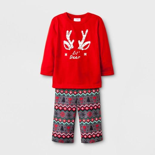 Toddler Reindeer Fair Isle Lil' Deer 2pc Pajama Set - Wondershop ...