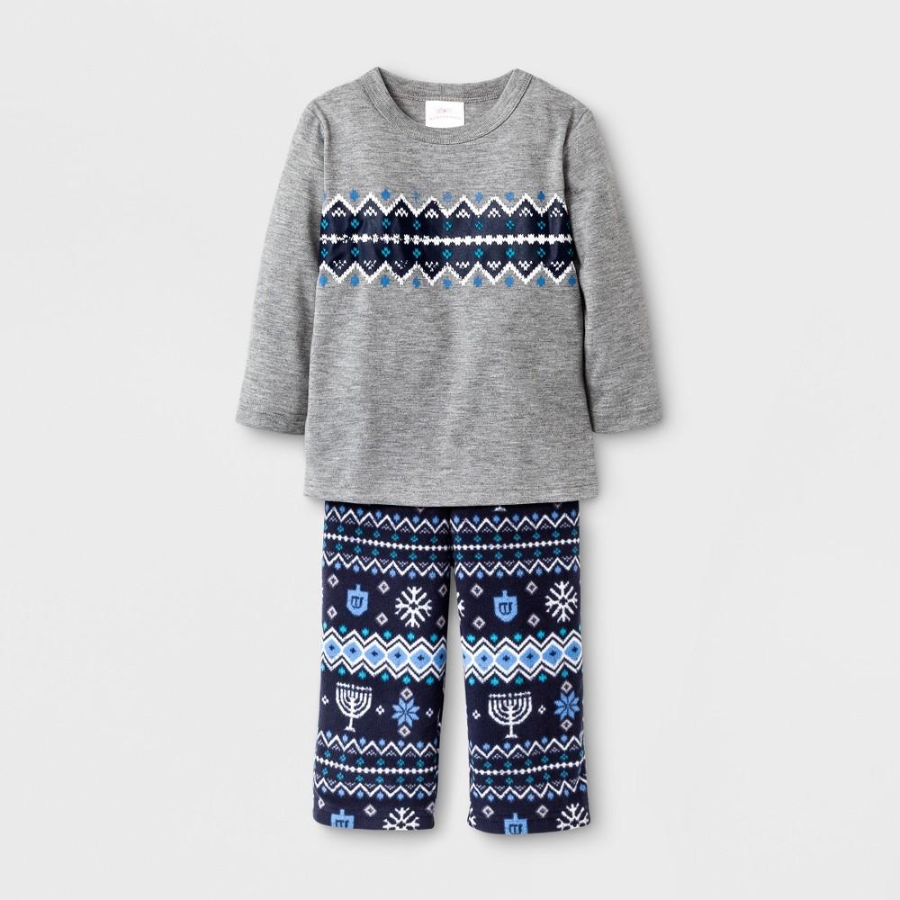 Baby Hanukkah Pajama Set - Wondershop Heather Gray 12 M, Infant Unisex, Size: 12M