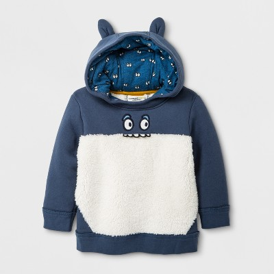Toddler Boy Hoodie with Ears - Genuine Kids™ from OshKosh® Blue 12M
