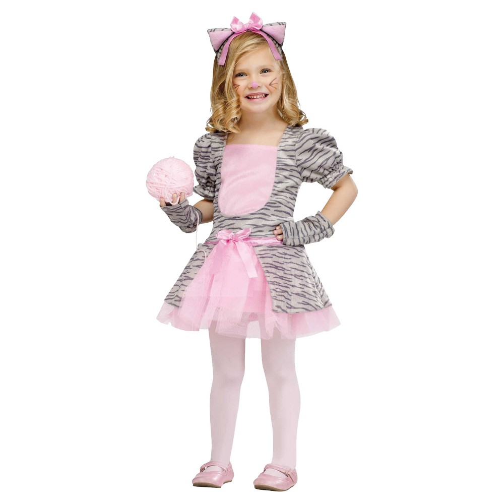 Girls Grey Kitten Toddler Costume 3t-4t, Size: 3T/4T, Multi-Colored