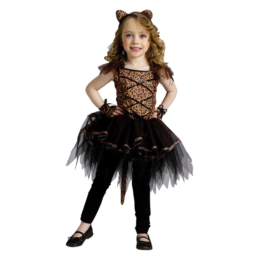 Girls Ballerina Leopard Toddler Costume 24m-2t, Size: 2T, Multi-Colored