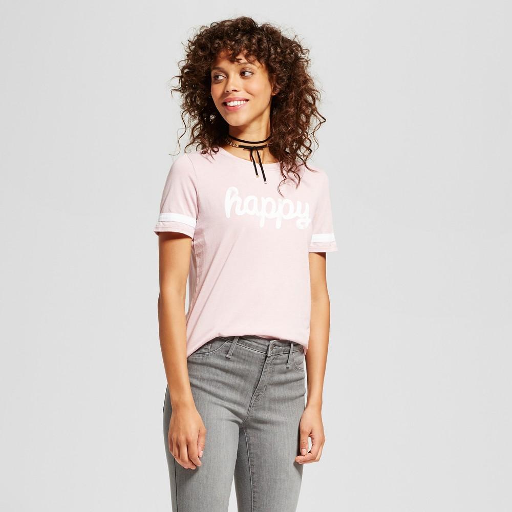 Womens Happy Graphic T-Shirt Gray M - Grayson Threads (Juniors), Purple