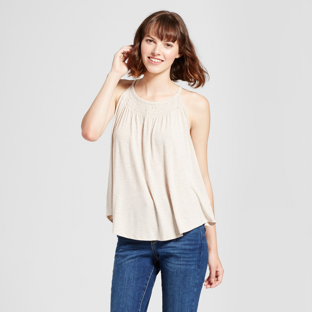 Womens Smocked Tank Top - Mossimo Supply Co. Oatmeal M