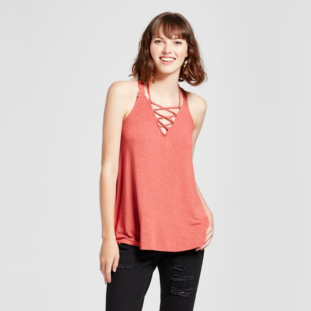 Womens Lace Up Tank - Mossimo Supply Co. Berry (Pink) L