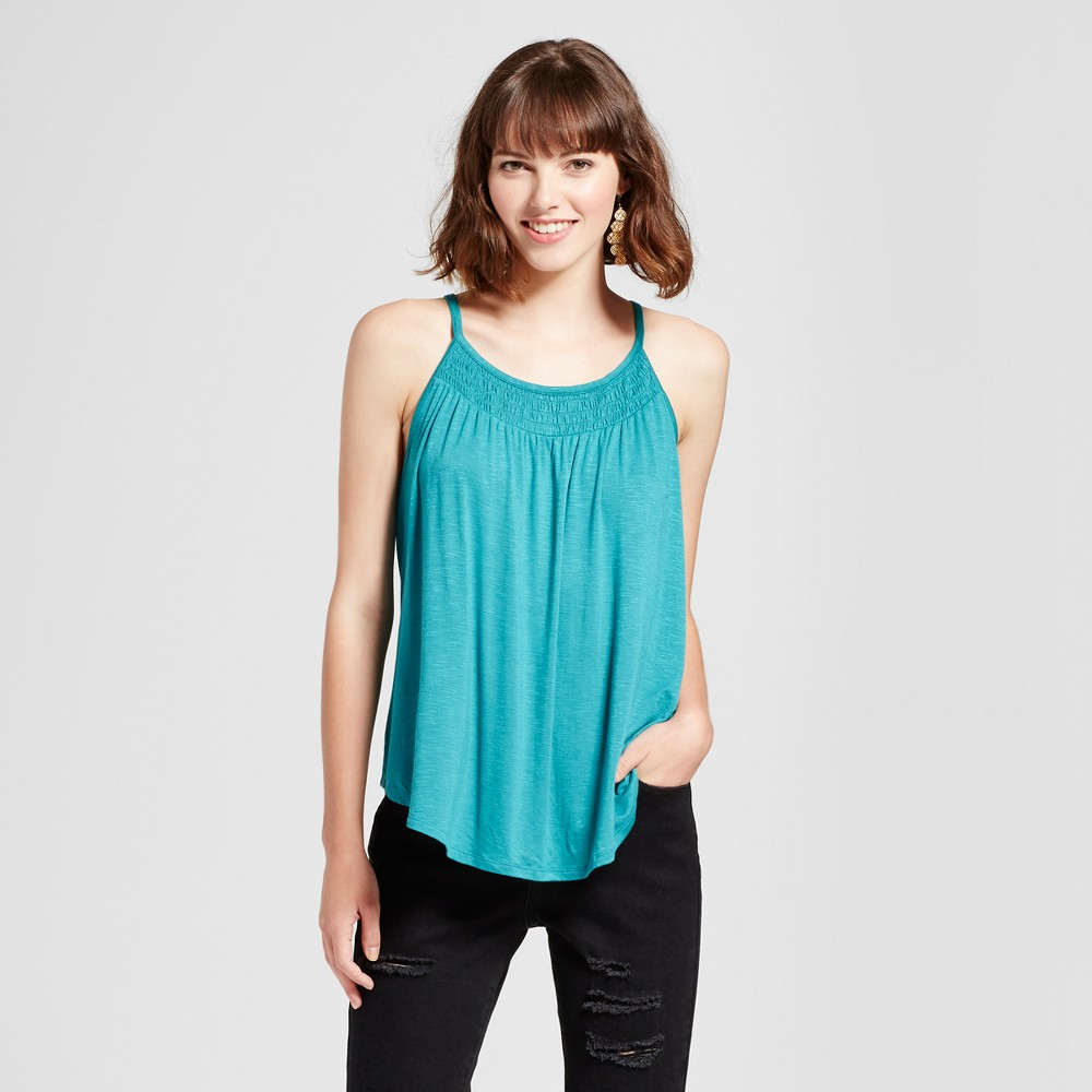 Womens Smocked Tank Top - Mossimo Supply Co. Teal (Blue) L