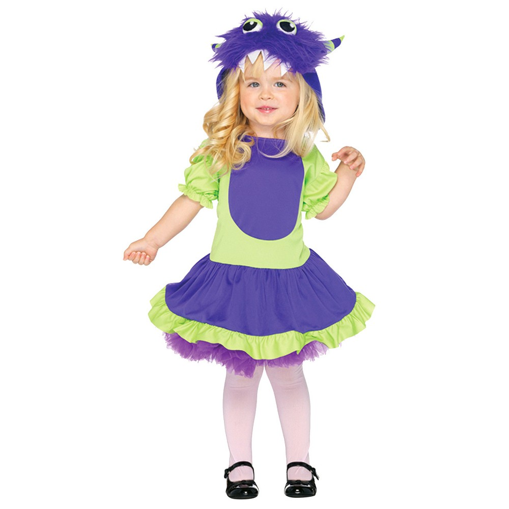 Girls Cuddle Monster Toddler Costume (3t-4t), Size: 3T/4T, Multicolored