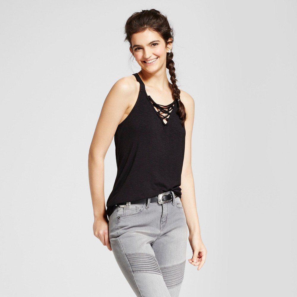 Womens Lace Up Tank - Mossimo Supply Co. Black XL