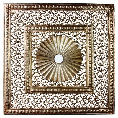 Wall Decor-2 Squares with Circle - Home Source