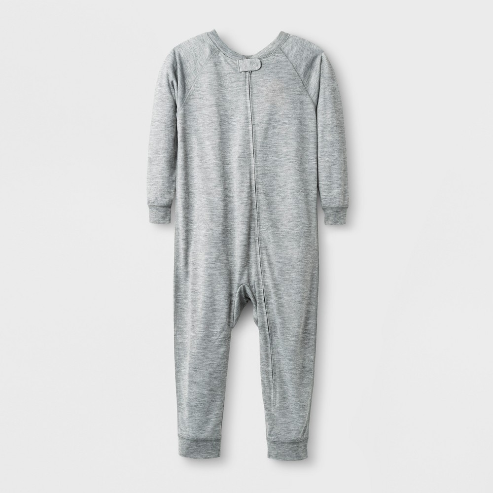 Toddler Sensory Friendly Full Body Jumpsuit - Cat & Jack Heather Gray 5T, Toddler Unisex