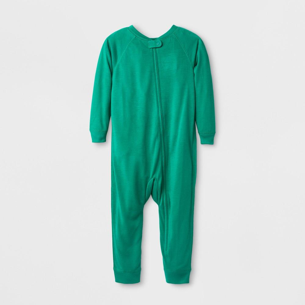 Toddler Sensory Friendly Full Body Jumpsuit - Cat & Jack Forest Glen 5T, Toddler Unisex, Green